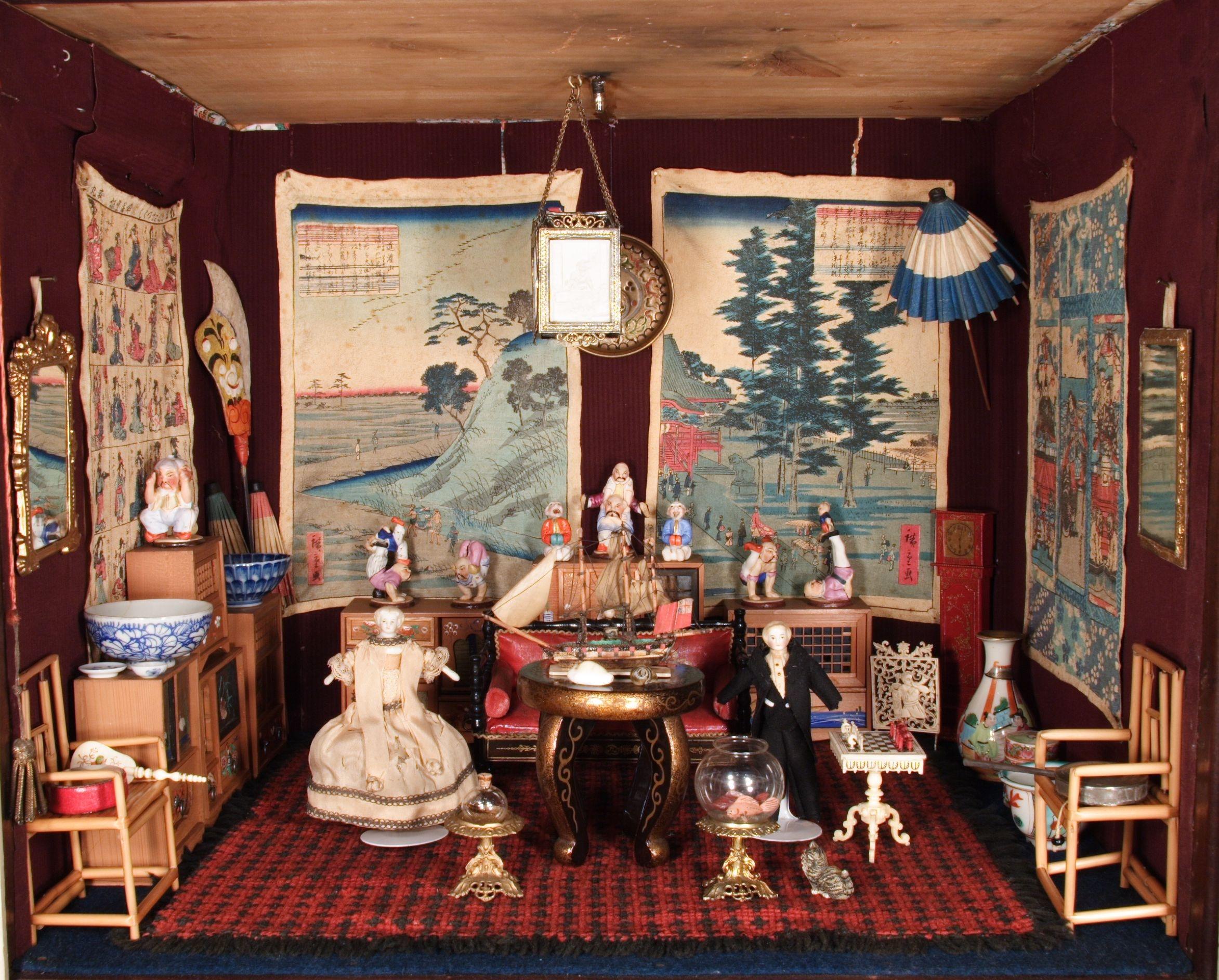 Puppenhaus dingley hall 1875 themenportal europ ische geschichte - Japanisches zimmer ...