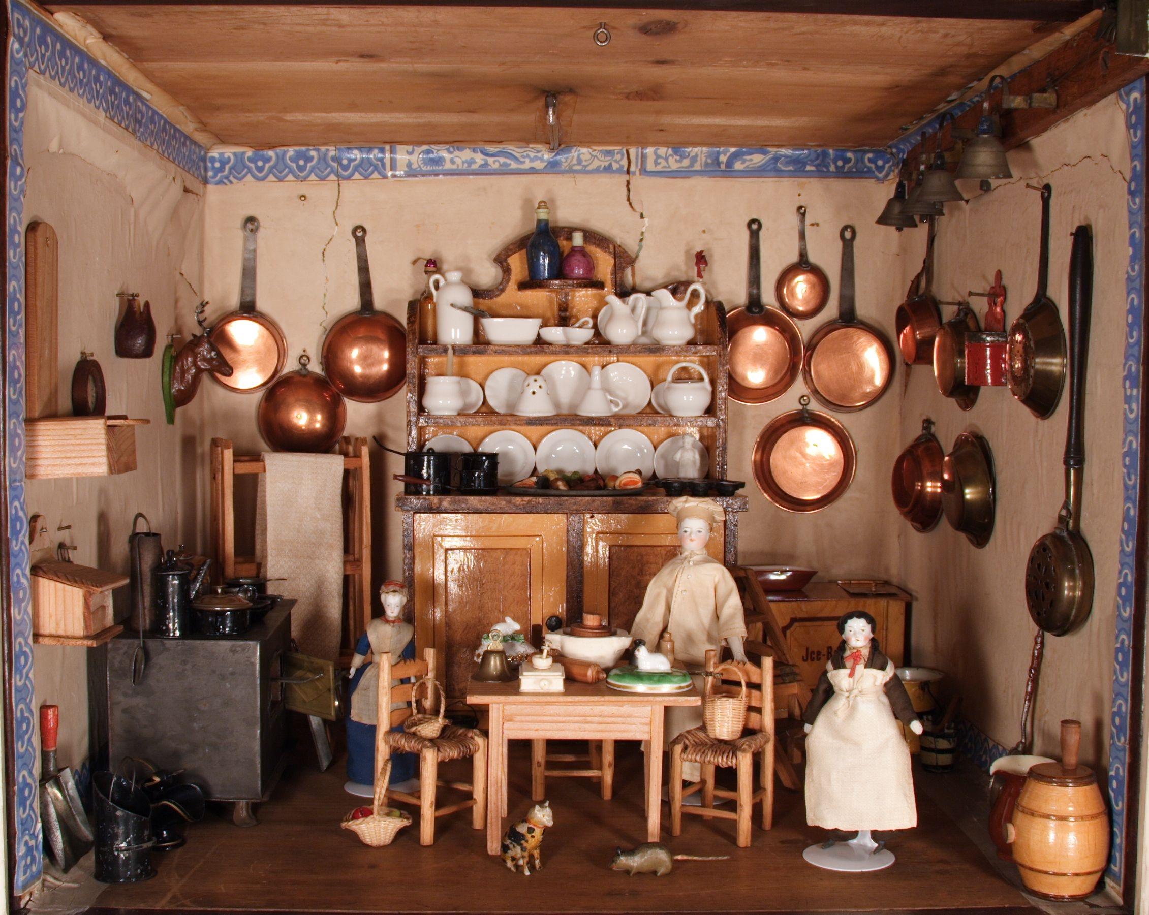 Puppenhaus dingley hall 1875 themenportal europaische for Puppenhaus küche